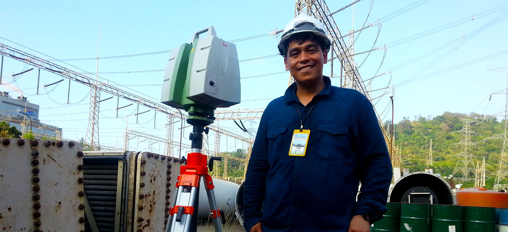 Power plant laser scan
