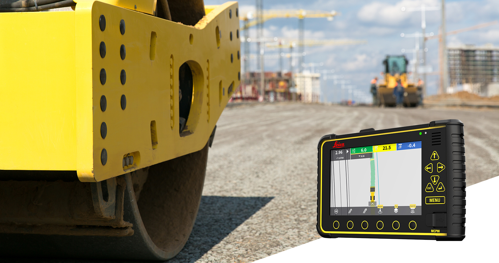 Leica Geosystems Rollers & Pavers Machine Control Systems