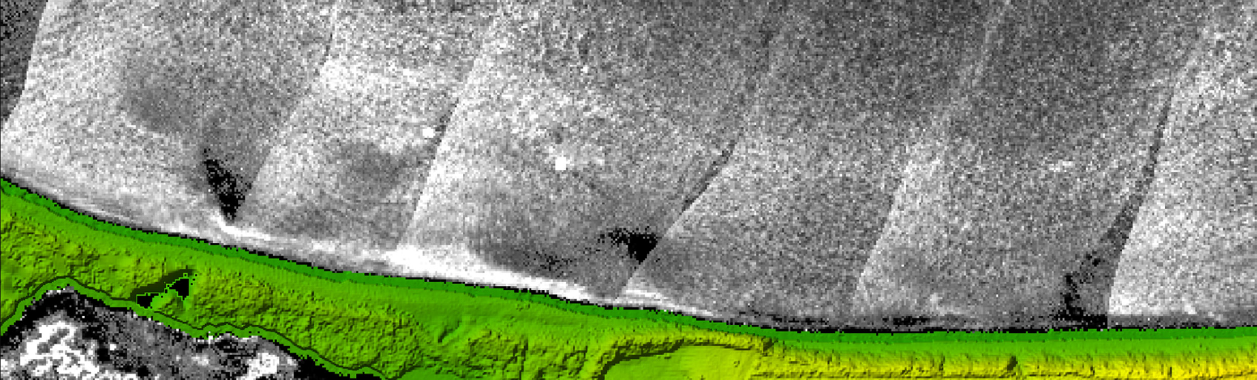 Mapping underwater terrain with bathymetric LiDAR