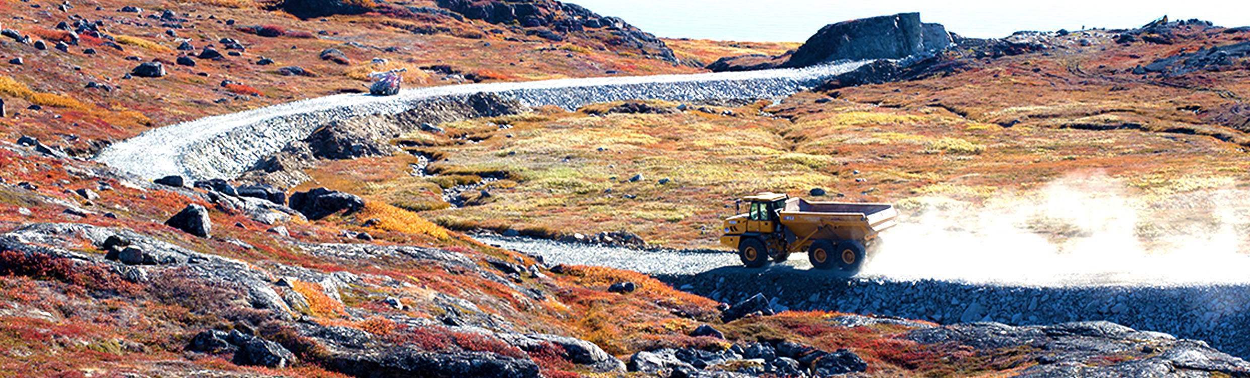 Building the longest road in Greenland