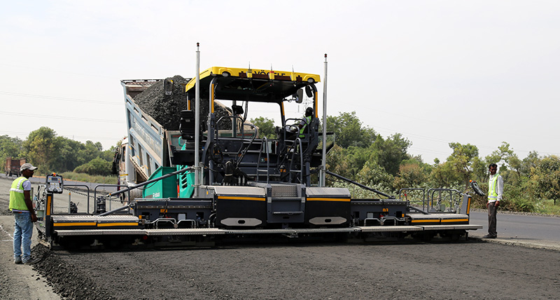 Paving machine 3D smart