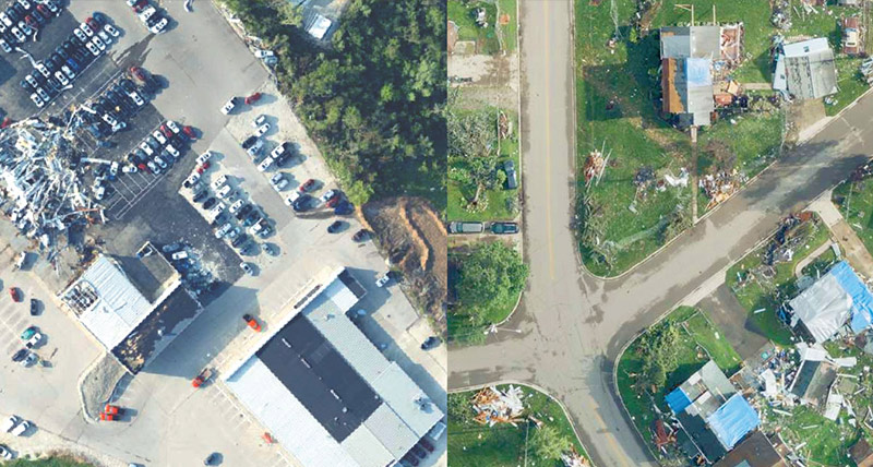 Ortho imagery for cost savings in the county