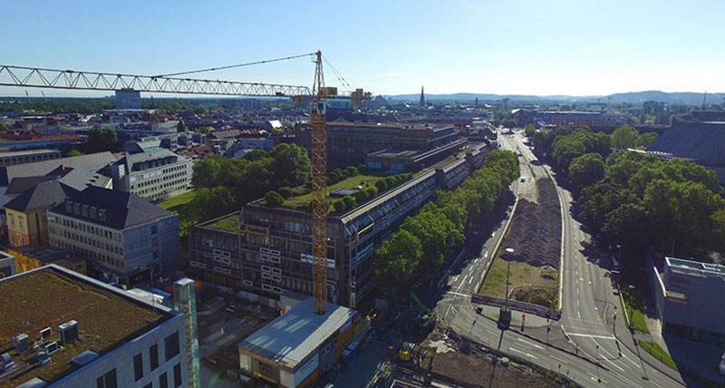 Digitising an urban construction site