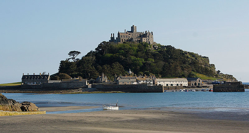 Aibot X6 flying over St Michaels Mount