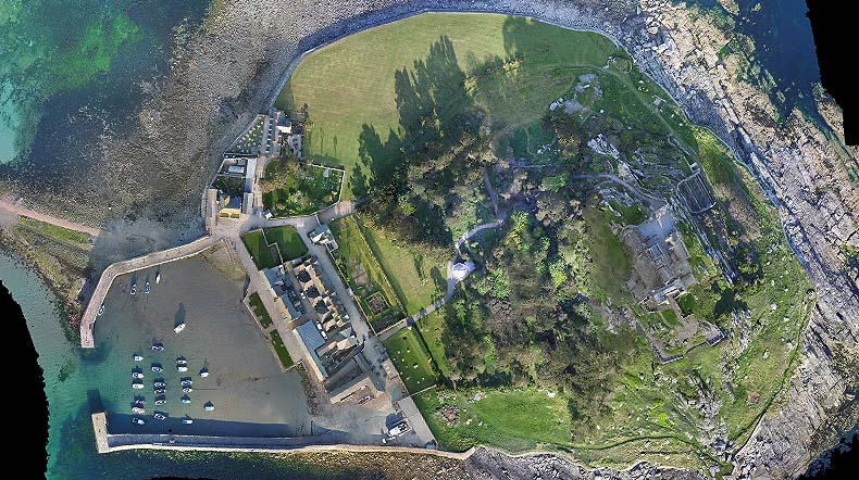 Orthophoto of St Michaels Mount