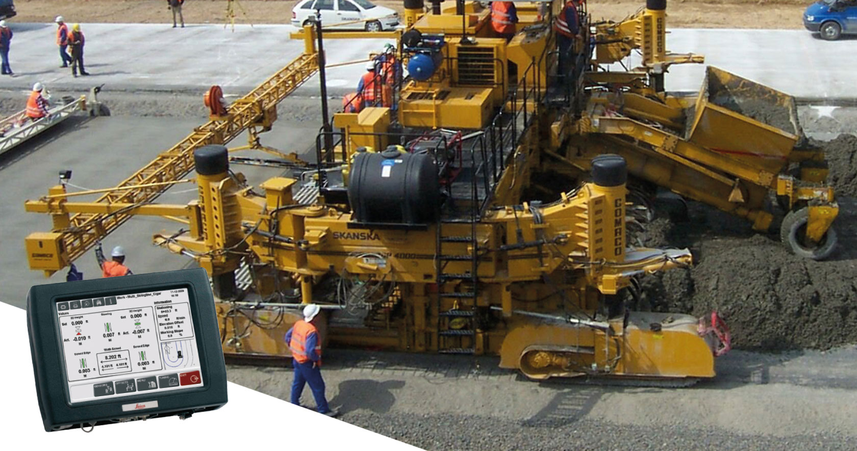 Ports Paving Finishing Compaction