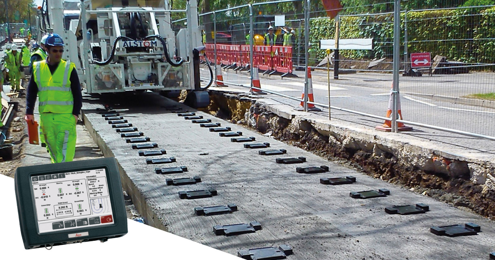 Rail Paving Finishing Compaction