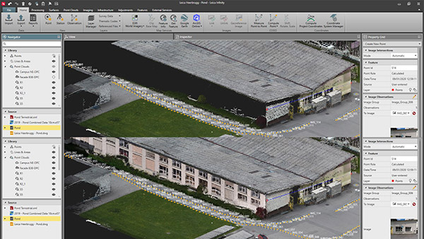 Leica Infinity Survey Software screenshot