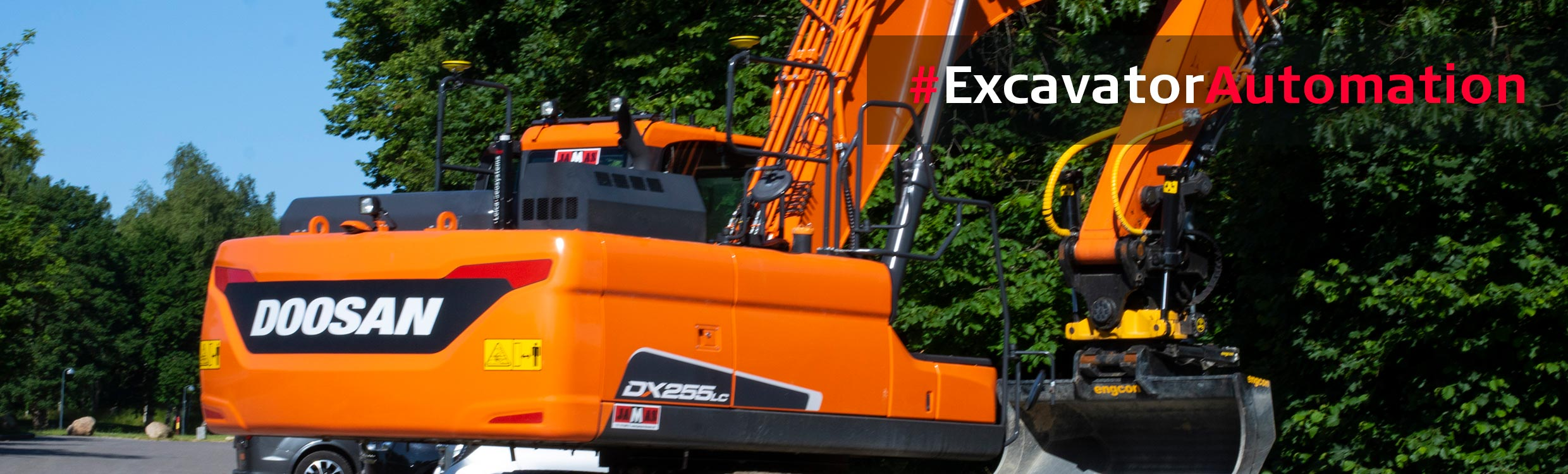 Semi-automatic excavator for Doosan