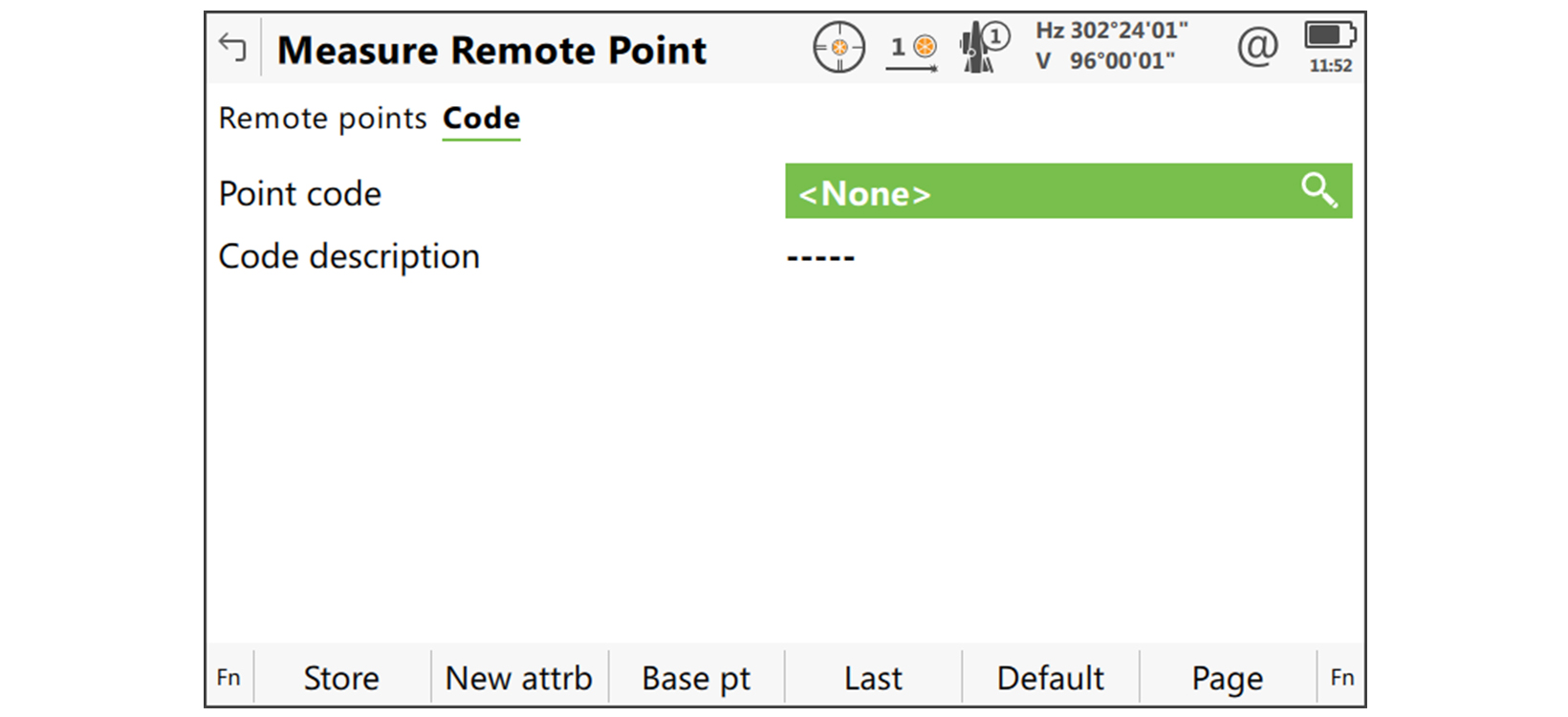 code remote point