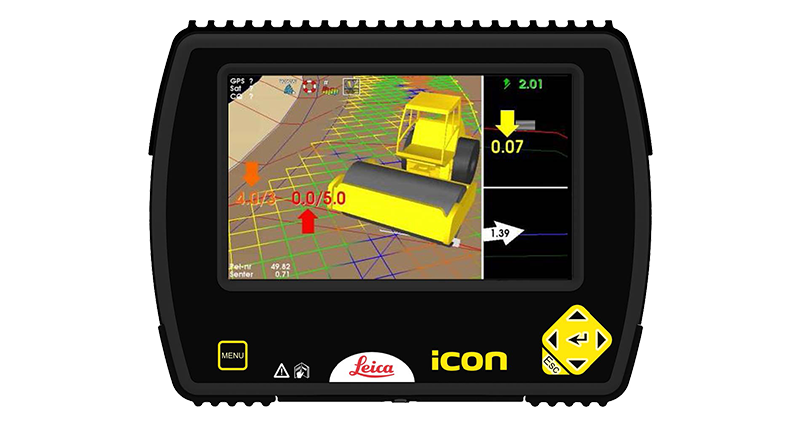 Leica iCON roller - compaction jobs done faster