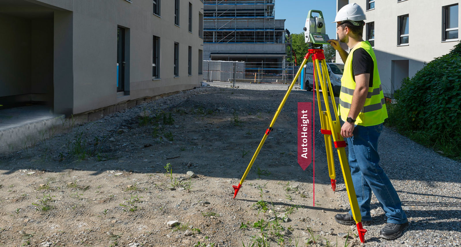 Leica TS16 robotic total station with the AutoHeight feature