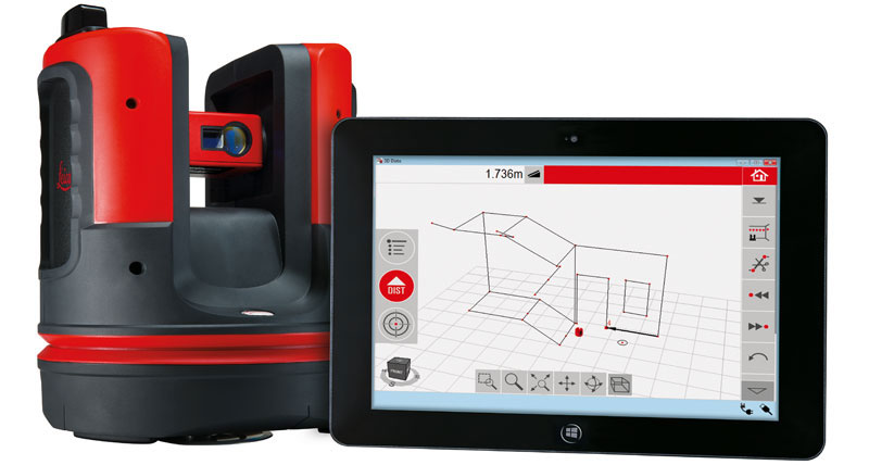 Leica 3D Disto met tablet
