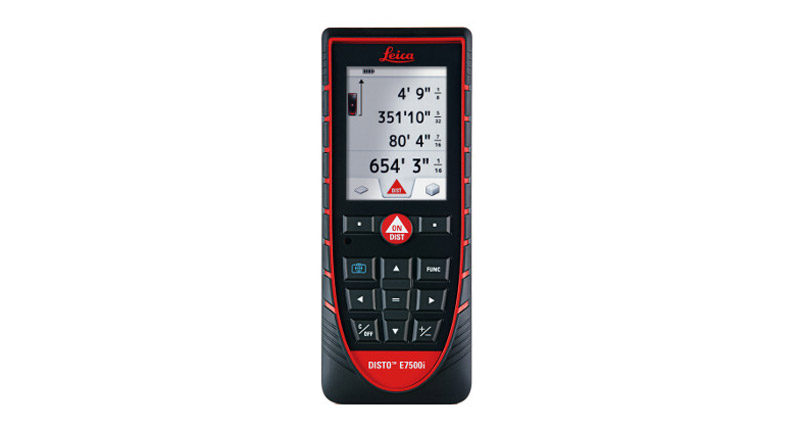 Leica DISTO™ E7500i is a Bluetooth enabled laser distance measurer with a built in 4x zoom camera