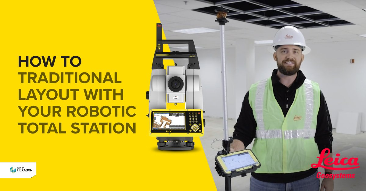 How to traditional Layout with your Robotic Total Station